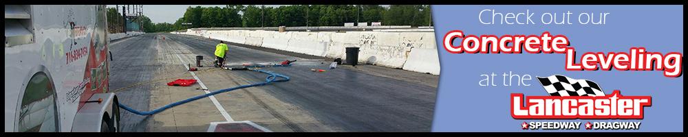 lancaster speedway, concrete leveling, concrete repair, bravo concrete, fix concrete