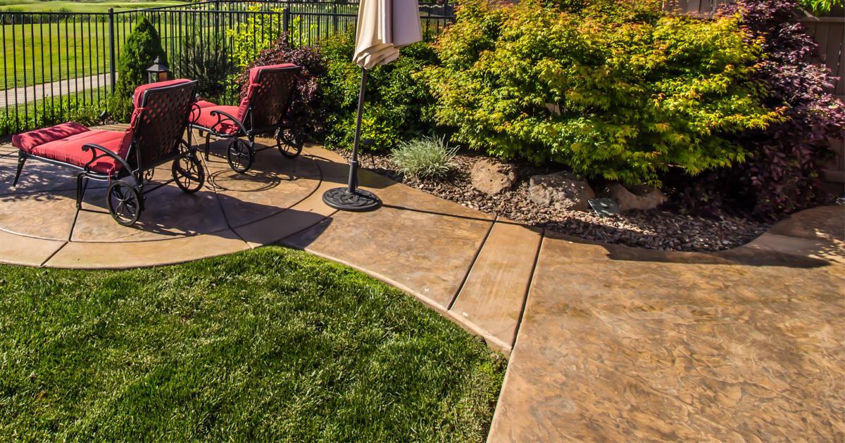 Staining Stamped Concrete Bravo Concrete Maintenance