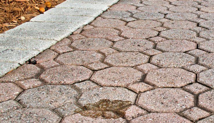 stained concrete, leaf stains concrete, concrete cleaning, Bravo Buffalo, concrete maintenance